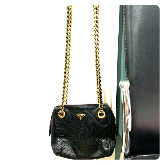 df5575edeaa7a8 Prada Bags | Vintage Tessuto Quilted Lambskin Chain Purse | Poshmark